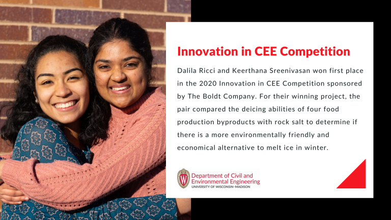 A picture of Dalila Ricci and Keerthana Sreenivasan.